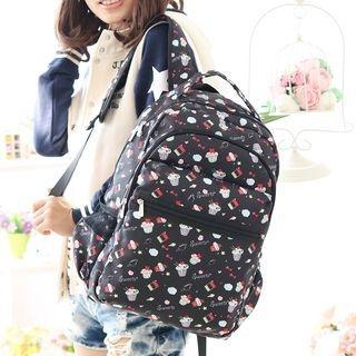 Cupcake Print Backpack