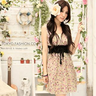 Buy Tokyo Fashion Floral Print Empire Sundress 1022882694