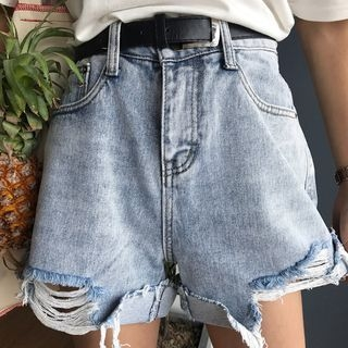 Rib Denim Shorts 1061400404