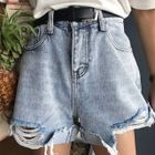 Rib Denim Shorts 1596