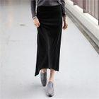Band-Waist Long Skirt 1596