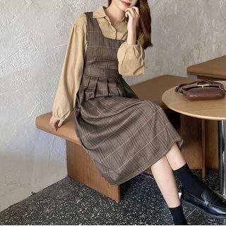 Long-sleeve | Plaid | Shirt | Dress