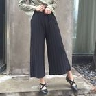 Ribbed Knit Wide Leg Pants 1596