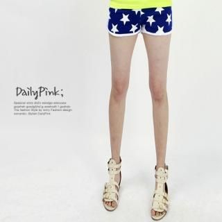 Buy Daily Pink Elasticized Waist Print Shorts 1022860610