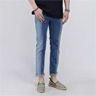Color-Block Distressed Jeans 1596