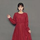 Tie-Waist A-Line Long Dress 1596