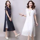 Set: Short-Sleeve Midi Dress + Strappy Dress 1596