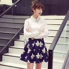 Set: Long-Sleeve Shirt + Floral Skirt от YesStyle.com INT