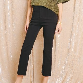Plain Boot-cut Pants 1059819759