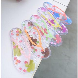 Sakura Print Jelly Flip-Flops