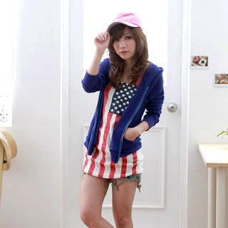 Buy ZOO American Flag Print Tube Top 1022690253