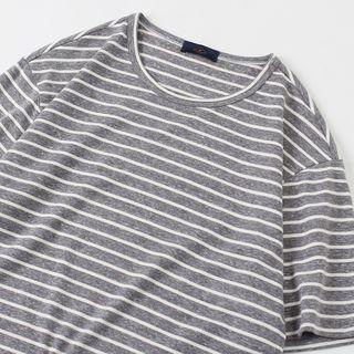 Image of Pinstripe Short Sleeve T-Shirt