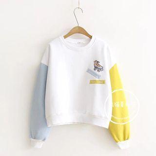 Roller Skate Embroidered Sweatshirt 1062525976