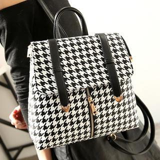Convertible Houndstooth Backpack Houndstooth - One Size