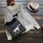 Long-Sleeve Striped Sweater 1596