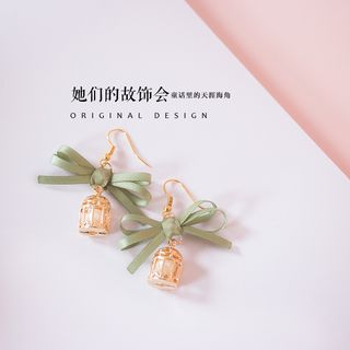 Image of Bird Cage-Accent Earrings