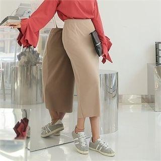 Band-Waist Long Skirt 1061646763