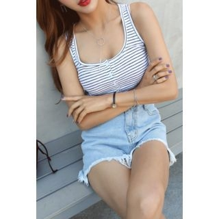 Sleeveless Striped Top 1066825999