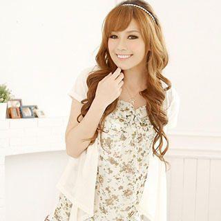Buy Reiko Ladies Inset Cardigan Floral Print Dress 1022861653