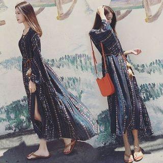 Long-Sleeve Maxi Sun Dress 1060127031