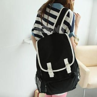 Buy SkyBlue Canvas Back Pack 1022990364