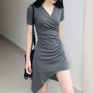 Short Sleeve PWCA1305B Asymmetrical Dress 96C32E31DE4 Fashion Womens