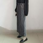 Pleated Cropped Wide Leg Pants 1596
