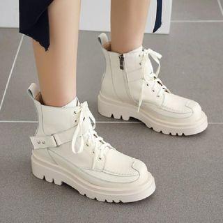Platform Lace-up Short Boots
