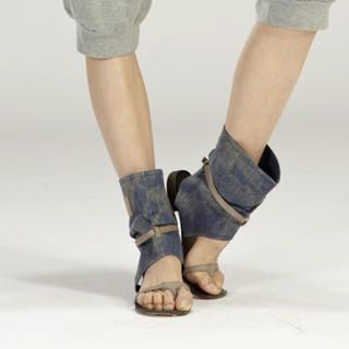 Buy tictak Strap Denim Cuff Sandals 1023065978