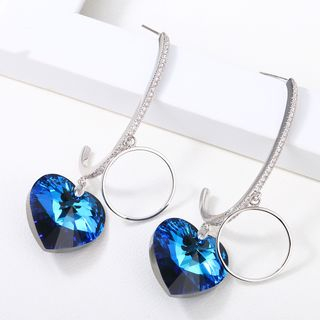 Swarovski Elements Crystal Heart Drop Earring 1063954396