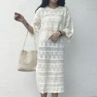 Pointelle Knit Dress 1596