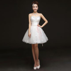 Embellished Strapless Mini Prom Dress 1596