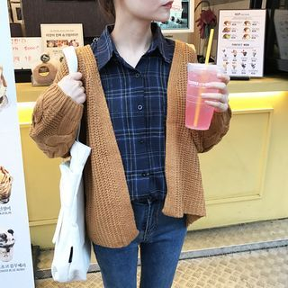 Ribbed Knit Cardigan 1061956303