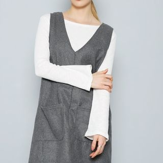 Boat-Neck Ribbed Top 1053893907