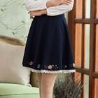 Embroidered Paneled A-Line Skirt 1596