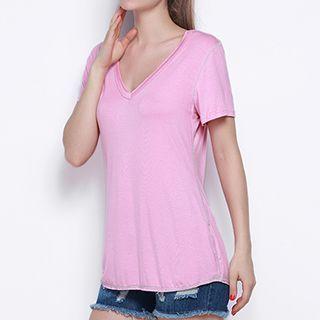 Short-Sleeve V-Neck T-Shirt 1050925279