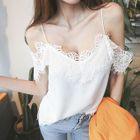 Off-Shoulder Lace-Trim Top 1596