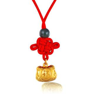 《Affluence Collection》Baby Gift - 24K Gold Chinese Knot Bag of Fortune Pendant