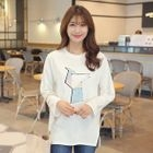 Long-Sleeve Sequined T-Shirt 1596