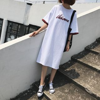 Image of Printed T-Shirt Dress