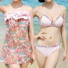Set: Floral Bikini + Swim Dress 1596