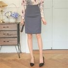Slit-Back Pencil Skirt 1596