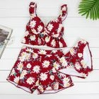 Set: Floral Print Tankini + Swim Shorts 1596