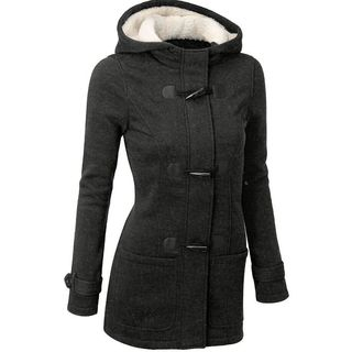 Fleece-Lined Hooded Toggle Coat - United states