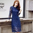 Long-Sleeve Lace Dress 1596