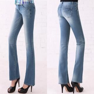 Picture of Blue Is Boot-cut Jeans 1022425963 (Womens Boot-Cut Pants, Blue Is Pants, South Korea Pants)
