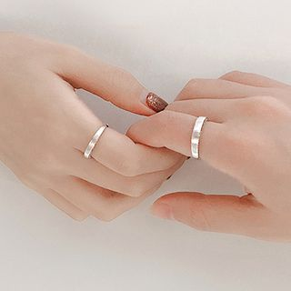Image of 925 Sterling Silver Brushed Open Ring