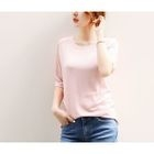 Elbow-Sleeve Ribbed T-Shirt 1596