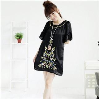 Buy MARLOCA Bell Sleeve Patterned Dress 1022561561