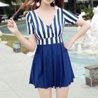 Striped Swim Dress 1596